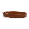 Mock crocodile leather collar in Mocha from Style Hound - Side view