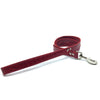 Mock crocodile leather lead in Red from Style Hound - front view