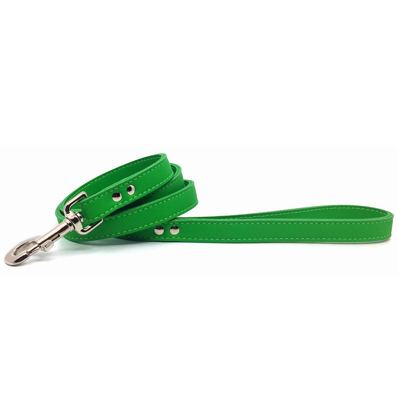 Emerald Green signature leather lead from Style Hound-front view