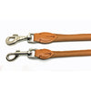 2 soft rolled cognac nappa leather leads from Style Hound-slim and standard
