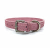 Embossed suede leather collar in a soft pink colour from Style Hound-back view