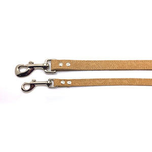 2 Camel coloured suede leather leads from Style Hound-slim and standard