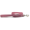 Pink suede leather lead from Style Hound-detail view