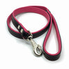 Two-toned black and pink leather lead from Style Hound-side view