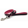 Two-toned black and pink leather lead from Style Hound-front view