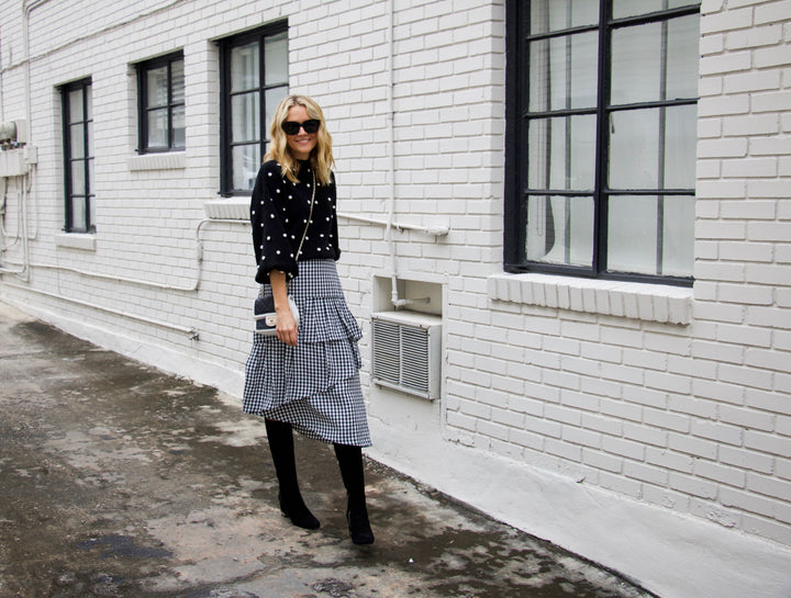 #12daysofsweaters - how to wear gingham year round