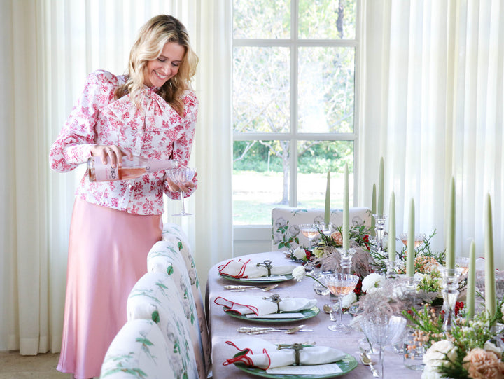 Pink Tidings & Cheer to All at Your Christmas Table
