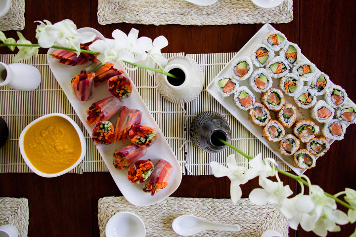 An Oriental Inspired Sushi Dinner Party for Spring