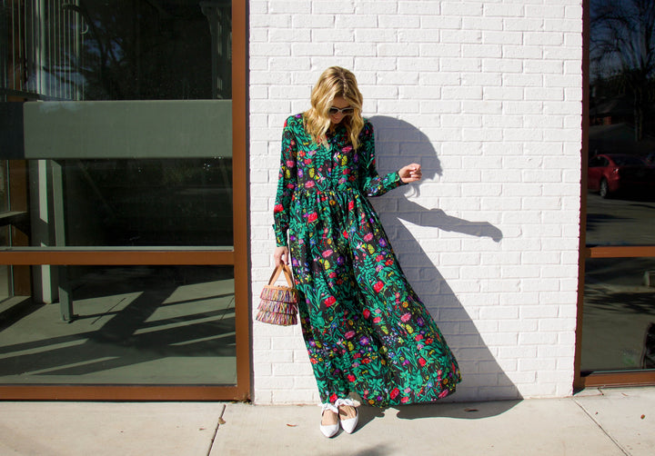 Bring on the Spring Florals Starting with this Almost Sold-Out Under $50 Maxi Dress