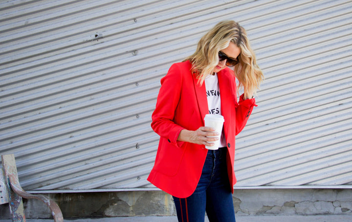 Red Anine Bing Blazer Two ways