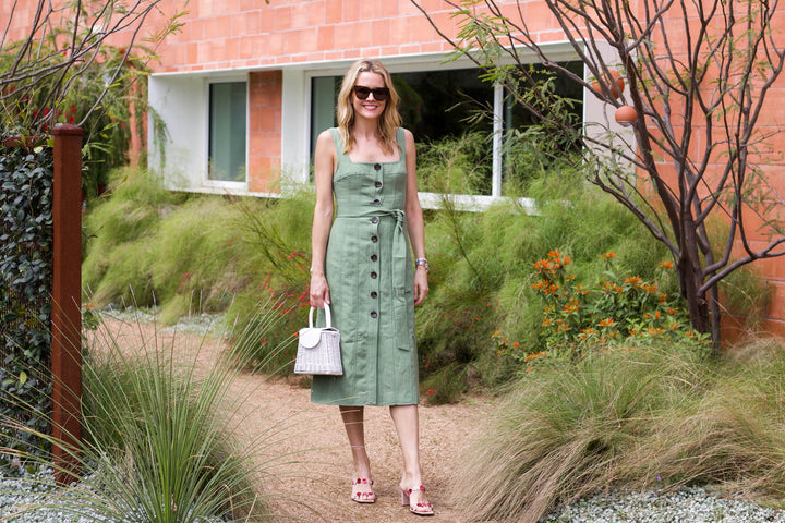 A Go-To Spring Dress In The Perfect Shade of Green + an On-Trend Square Neckline