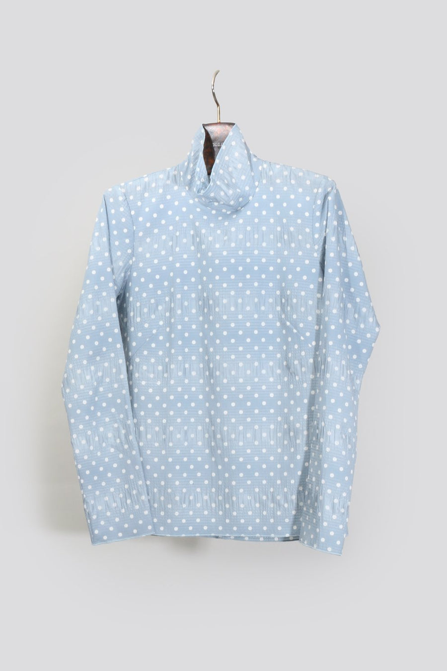 Varda Polka Dot Top, Blue x White