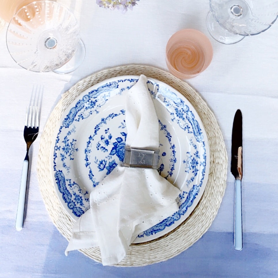 Blue Flatware, Five Piece Setting