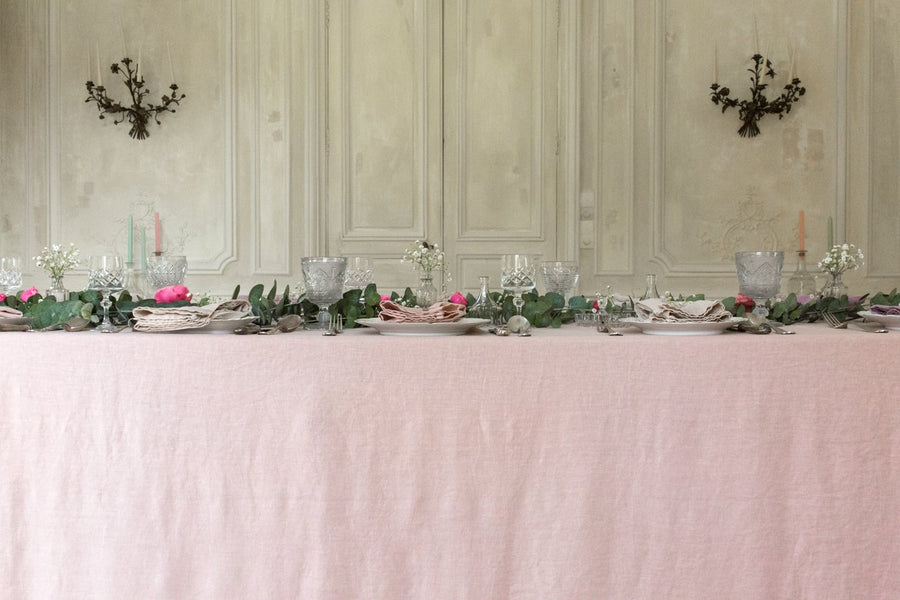 Rose Linen Tablecloth 260 x 350