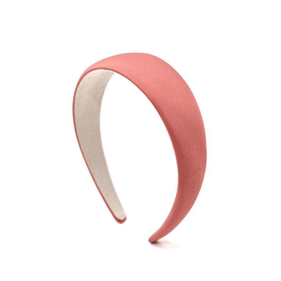 Simple Satin Headband, Coral