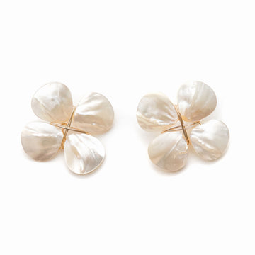 Mother of Pearl Floral Stud, Regular