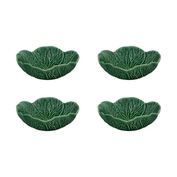 Cabbage Bowl 13 oz Green, set of 4