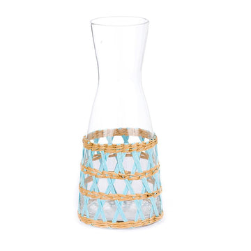 Island Wrapped Carafe, Light Blue