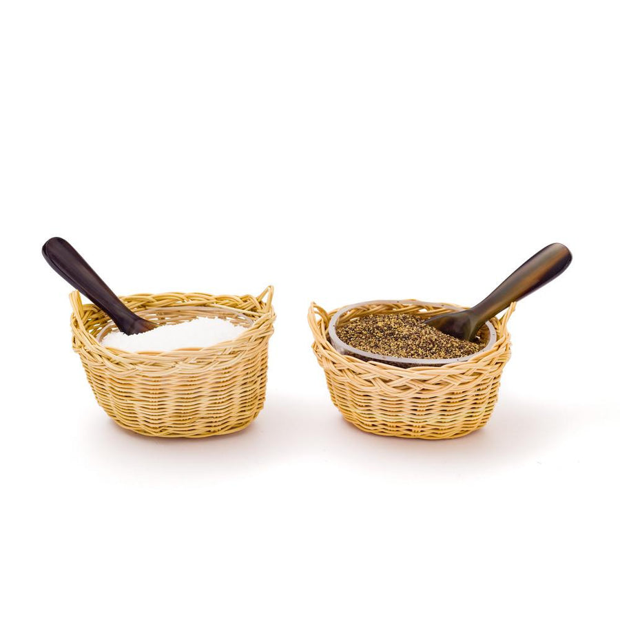 Rattan Salt and Pepper Cellars