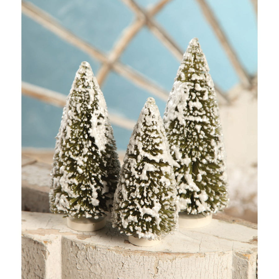 Bottle Brush Trees, Olive Green