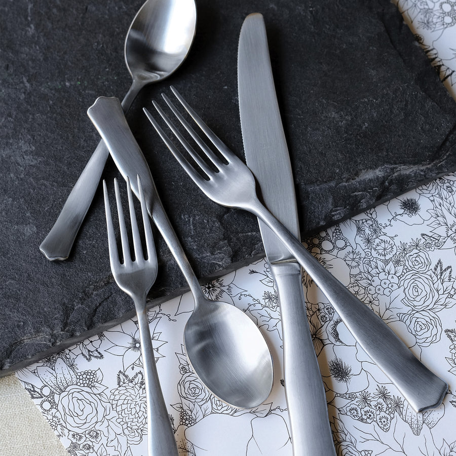 Borgo Matte Five-piece Place Setting