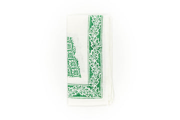 Block Print Napkin, Green