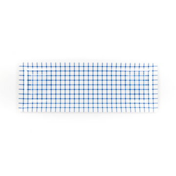 Gingham Tray, Blue