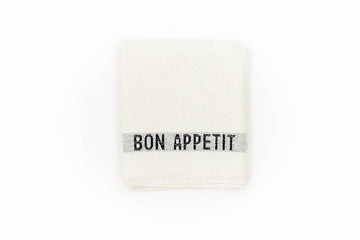 Bon Appetit Bistro Table Runner, White