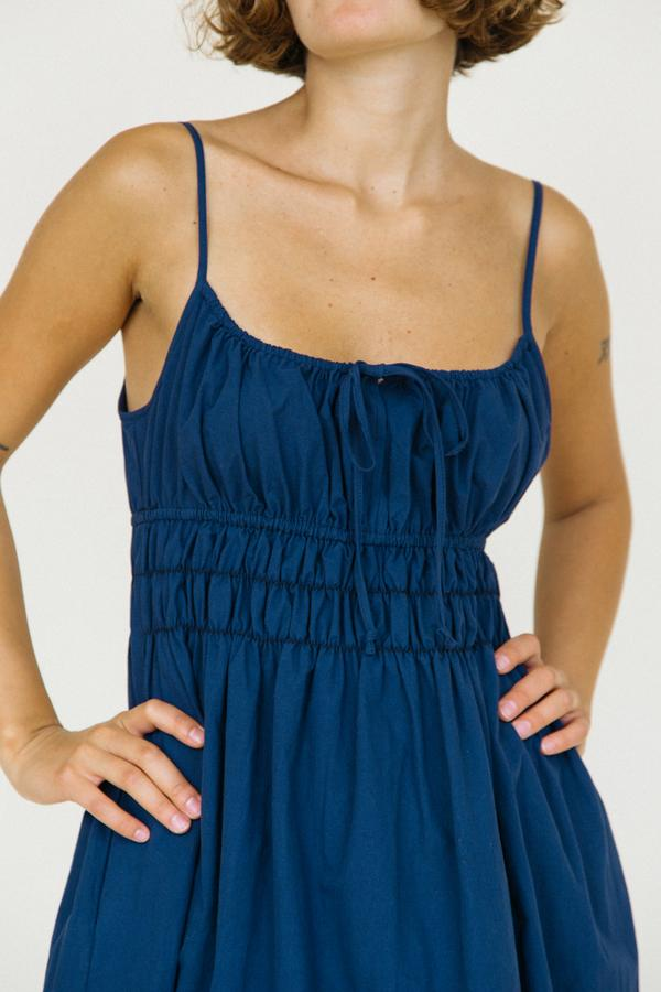 Gabriela Dress Washed Cotton, Navy