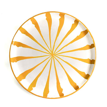 Candy Cane Stripe Dinner Plate, Amarillo