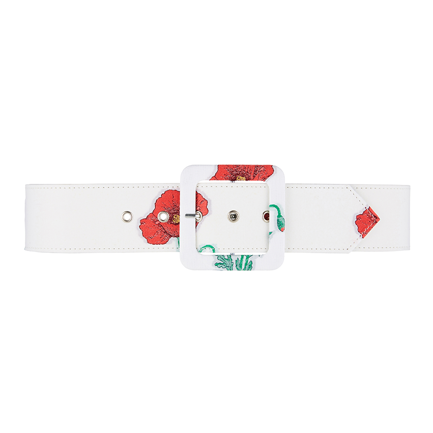 Gloria Wide Belt, Red Poppy