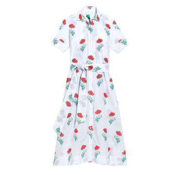 Amara Dress II, Red Poppy