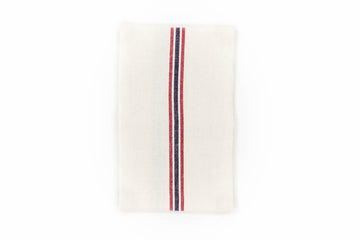 Drapeau Linen Tea Towel, White