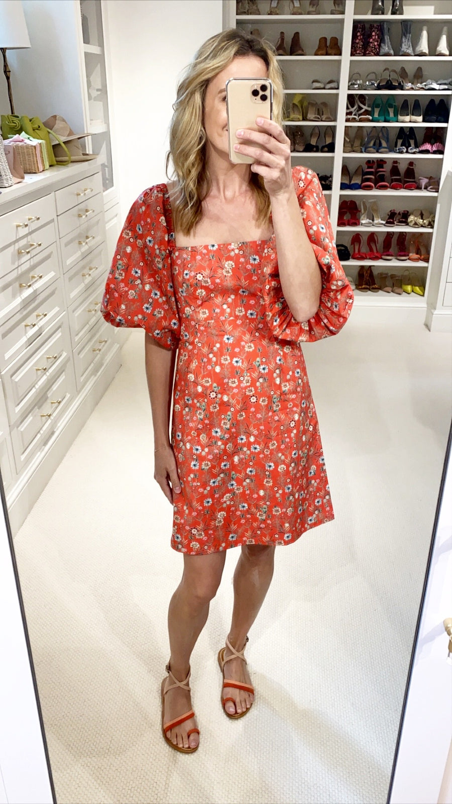 Montauk Floral Dress, Red