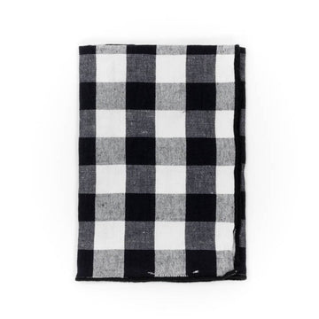 Gingham Napkin, Black