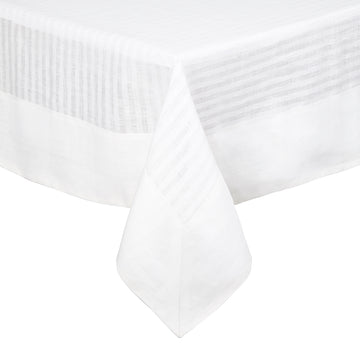 Greenwich Tablecloth White