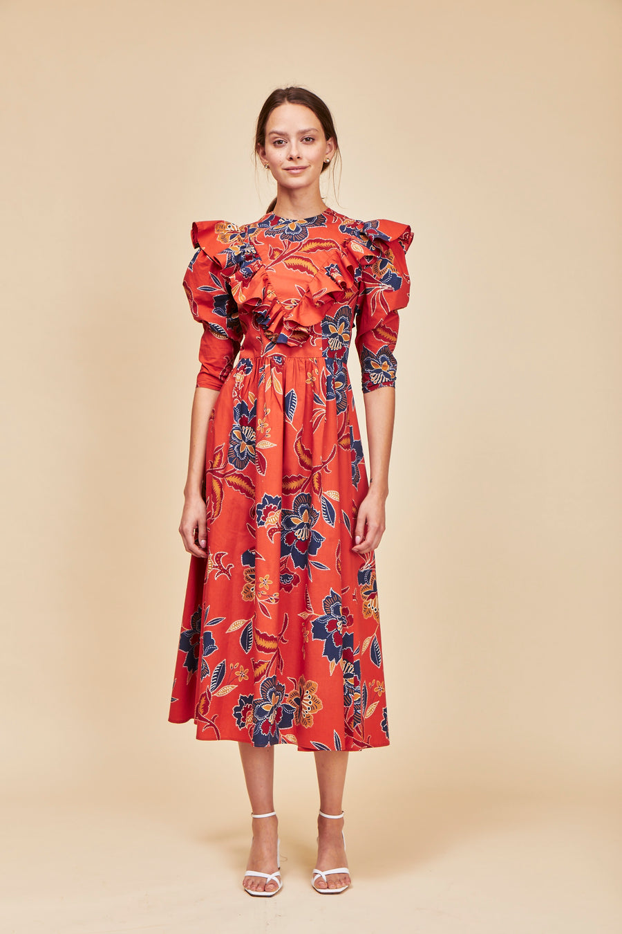 Audrey Dress, Red Willow