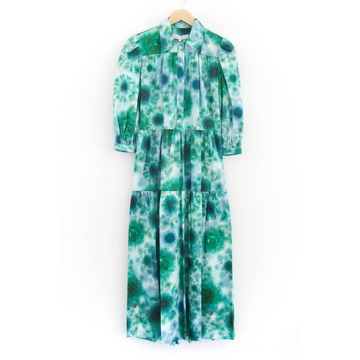 Clayton Dress, Green Tie-Dye