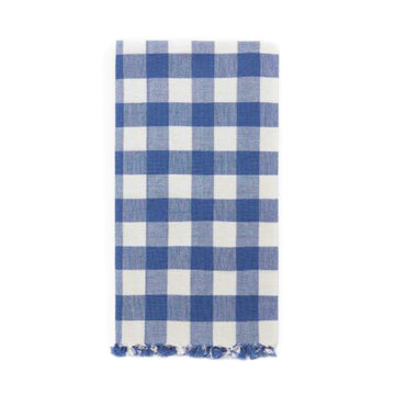 Gingham Tea Towel, Denim