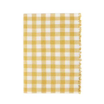 Gingham Tablecloth, Sunflower