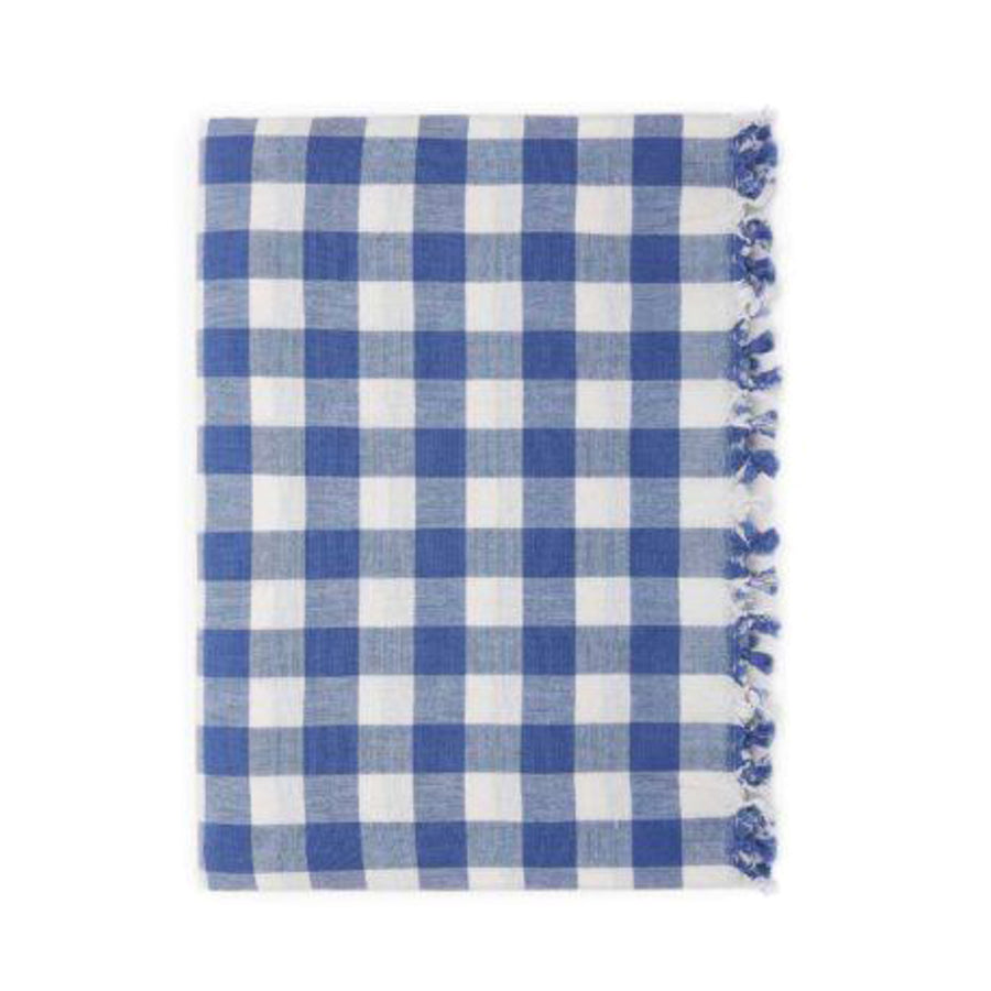 Gingham Tablecloth, Denim