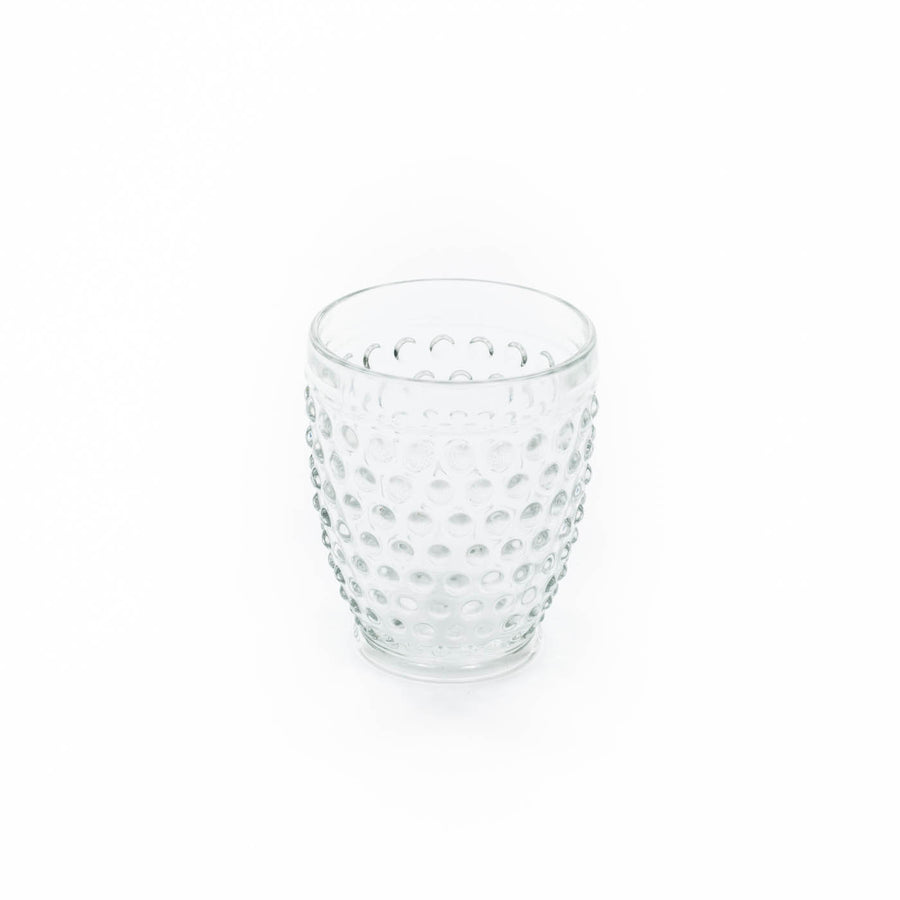 Hobnail Tumbler Glass, Clear