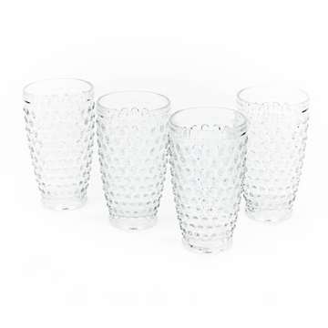 Hobnail Highball Glass, Clear