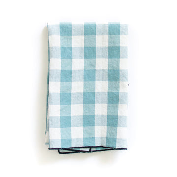 Gingham Tea Towel, Aqua