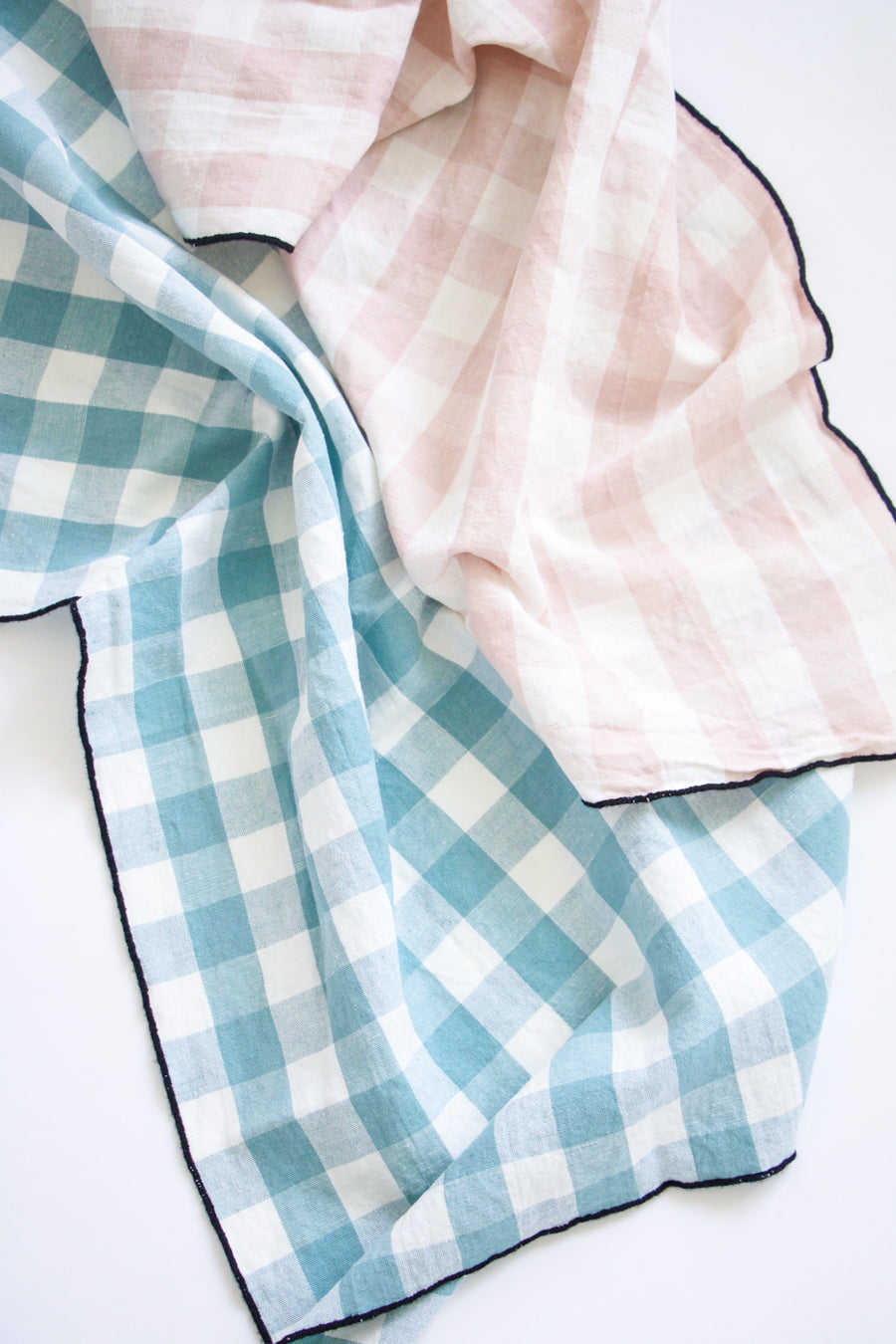 Gingham Tea Towel, Blush