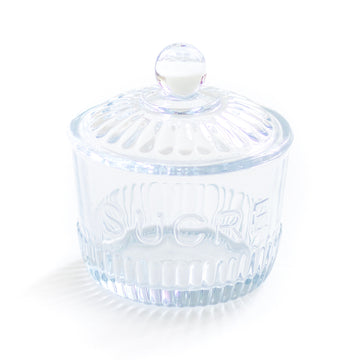 Glass Sugar Jar, Blue