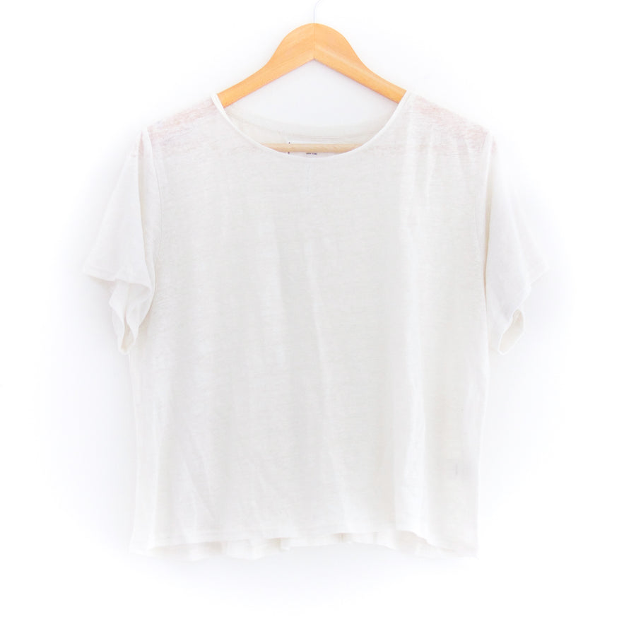 Cropped Tee, Cream