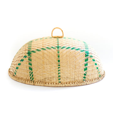 Wicker Buffet Dome, Natural x Green