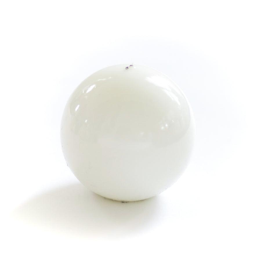 Lacquer Sphere Candle, White