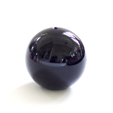 Lacquer Sphere Candle, Black